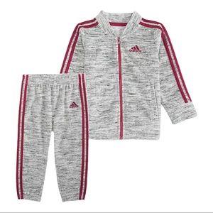 adidas 2-Piece Velour Track Jacket & Pants Set